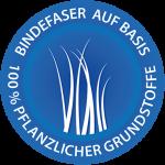 Logo Bindefaser 100% pflanzlich